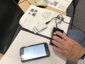 iPhoneのスイッチ操作