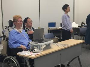 ALS当事者高野元さんの講演